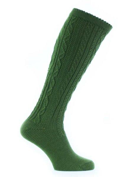 Kniestrumpf gras-grün