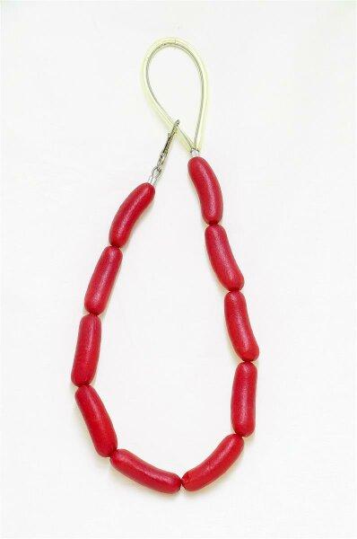 Hundeleine im Wurstdesign 10 rote Würstchen