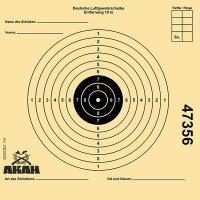 AKAH Luftgewehr-Scheibe 12x12 cm mit 10 Ringen