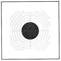 AKAH Luftpistolen-Scheibe 17x17 cm