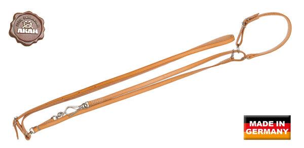 AKAH Umhängeleine mit Halsung 10 mm breit