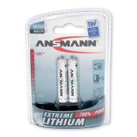 2 x Ansmann Extreme Lithium Batterie 1,5 V Micro AAA