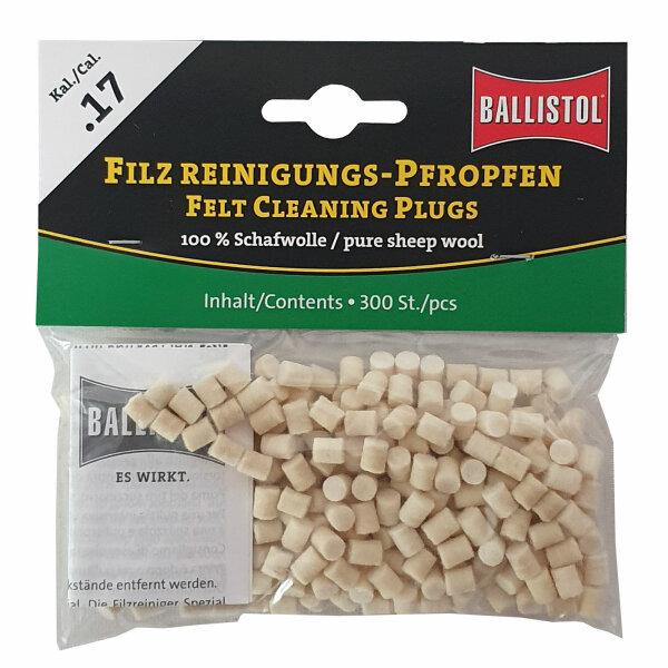 Ballistol Filz Reinigungs-Pfropfen Klassik Kal. .17 / 300 Stk.