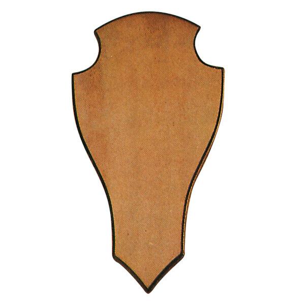 Geweihbrett für Rot- u. Damhirsch, spitze Form, dunkle Eiche (versch. Größen)